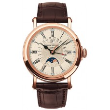Patek Philippe Perpetual Calendar 18kt Rose Gold Brown Leather 5159R-001