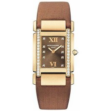Patek Philippe Twenty-4 18kt Rose Gold Chocolate Strap Diamond Ladies 4920R