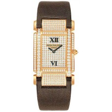 Patek Philippe Twenty-4  18kt Rose Gold Diamond Dial Satin Strap Ladies 4910R