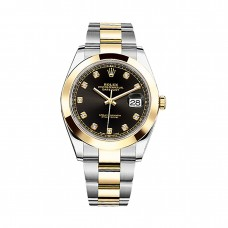 Rolex Datejust 126303 Black Diamond Dial Steel and 18K Yellow Gold Oyster replica Watch