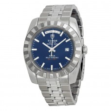 Tudor Dateand Day Classic Automatic Blue Dial Stainless Steel 23010-BLSSS Replica Watch