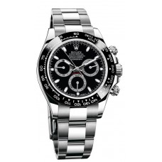 Rolex Cosmograph Daytona 116500 Black Dial Stainless Steel Oyster replica Watch